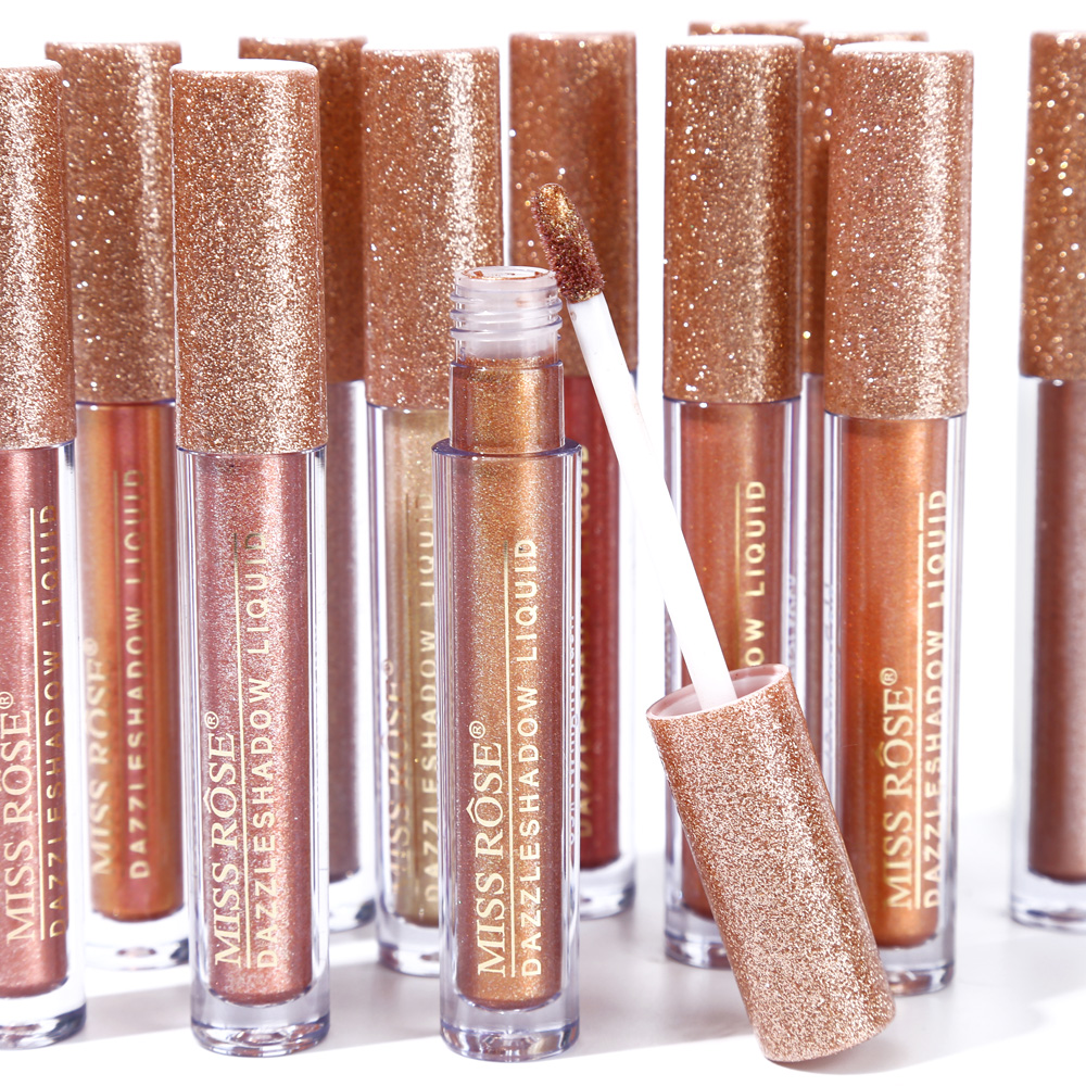 Miss Rose Dazzle Single Liquid Eye Shadow Tint Shimmer Make Up Waterproof Glitter Eyeshadow Shine Eye Metallic Cosmetics