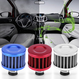 Image 1 - Комплект дыхательного фильтра 12 мм, воздухозаборный фильтр холодного воздуха, автомобильный двигатель, масло/воздух/индукция, Стайлинг автомобиля