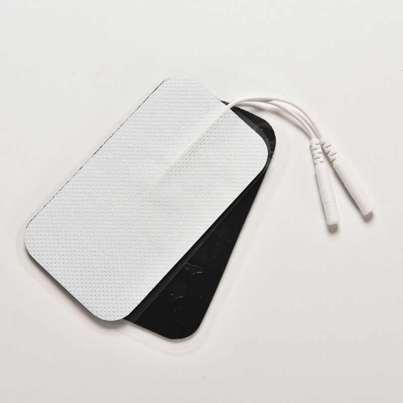 1 คู่ใหม่ TENS Electrode Pads สำหรับ EMS TENS เครื่องนวด Long-Life หัว Electrode สายไฟ/สาย