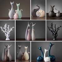 Estatuetas animais acessórios de decoração para casa nordic vintage decoração de casa artesanato ornamento h