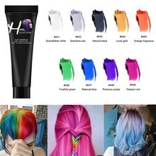 Zation One-time Hair Dye Wax Temporary Hair Color Dye Tinte Para Cabello Grandma Grey Color Washable Non-toxic DIY Hair Color
