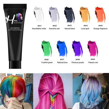 Zation One-time Hair Dye Wax Temporary Hair Color Dye Tinte Para Cabello Grandma Grey Color Washable Non-toxic DIY Hair Color