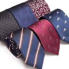Men Tie Luxury Skinny Gravata Jacquard Ties for Mens Business Man Wedding Formal Dress Striped Fashion Accessories Gifts Necktie