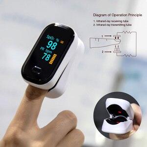 Image 4 - Draagbare Vinger Pulsoximeter Oled Bloed Zuurstof Hartslag Verzadiging Meter Medische Saturatiemeter De Dedo Saturometro Monitor