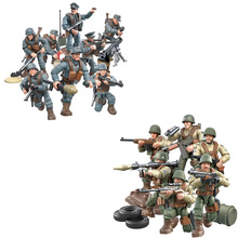 ww2 Battle of Rhineland army mega block action figures world war penetrate into the enemys rear weapon gun building bricks toys the echo of battle – the army s way of war