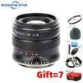 Brightin star 55 мм F1.8 полная Рамка Большая диафрагма ручной фокус Prime фиксированный объектив для Sony E A9 A7M3 A7II EOSR Nikon Z-Mount