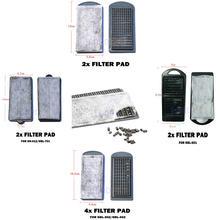 Powiesić na podkładki filtracyjne węgiel aktywny Media Bio arkusz dla HBL302 303 501 701 HN011 012 wiszące zewnętrzne akwarium wodospad filtr