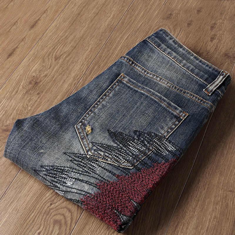 Pantalones vaqueros de mezclilla azul claro de verano con botones para hombre de alta calidad pantalones