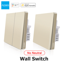 Aqara Wall Switch Zigbee Smart Fire Wire Light Remote Control No Neutral WiFi Switch Single Double Key For Mi Home Apple Homekit