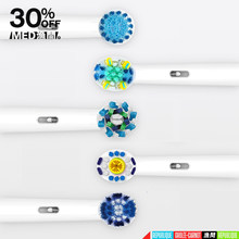 16Pcs/Pack suitable for oral b toothbrush heads bi Rotary Electric Vitality Teeth Cleaning Replaceable Toothbrush Nozzles
