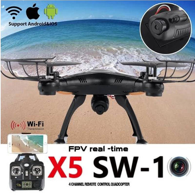 2MP Camera RC Drone 4Ch 6 Axis 2 4G WIFI Helicopter FPV Real Time Transmit Quadcopter USB Charge