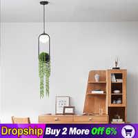 Nordique led jardin lustre pour salon chambre maison lustre par sala plafond moderne à LEDs lustre lampe éclairage moderne