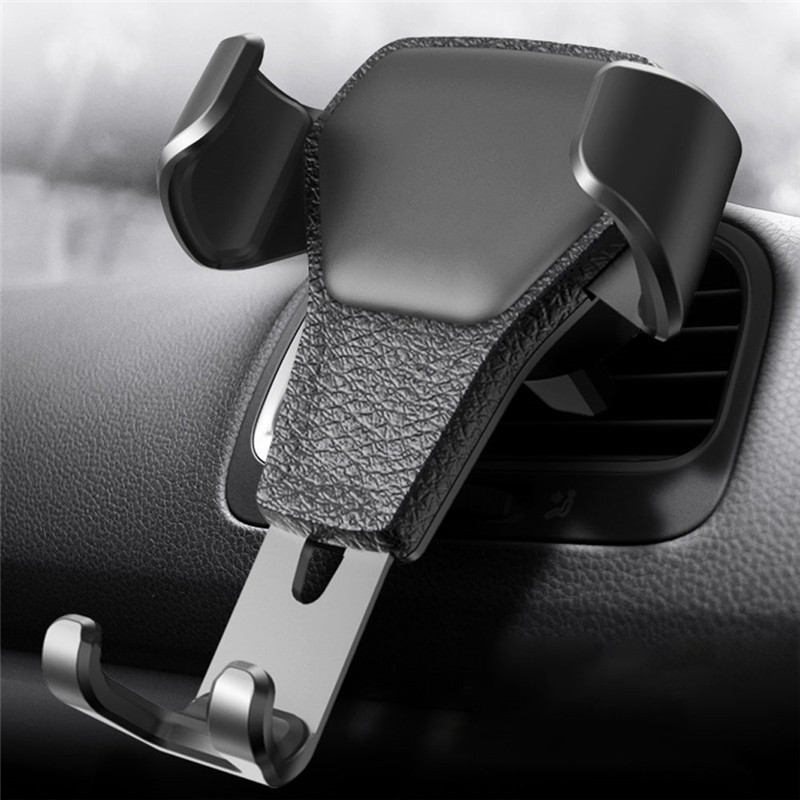 Practical Car Gravity Phone Holder Gravity Reaction Car Mobile Phone Holder Clip Type Air Vent Mount For GPS Cell Phones