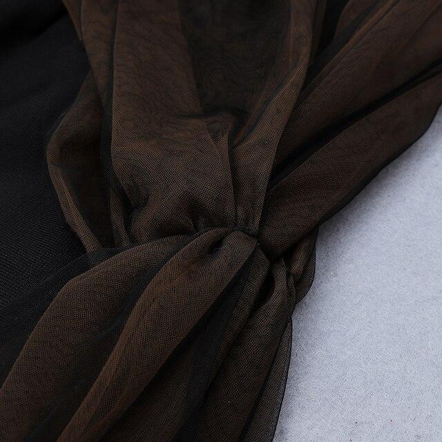 Женский облегающий сетчатый комбинезон ciemiili однотонный черный