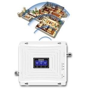Image 3 - Lintratek إشارة الداعم 2G 3G 4G LTE 1800mhz 2100mhz 900mhz GSM DCS WCDMA ثلاثي الفرقة الخلوية مكرر إشارة LCD الجيل الثالث 3G 4G مكبر للصوت