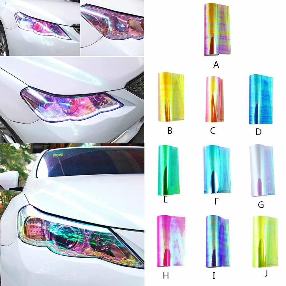 Chameleon color changing tint vinyl wrap sticker headlight film car light lHFji