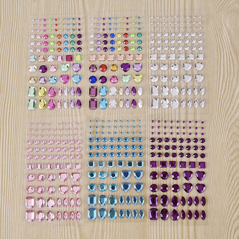 Rhinestone Stickers Acrylic Accessories Crystal Diamond Beads Mobile Phone Computer Accessories Diy Shiny наклейки стикеры