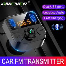 Onever Car Fm Transmitter LCD MP3 Player Wireless Bluetooth Receiving Car Kit 3.1A fast USB Hands Free USB Charger FM Modulator