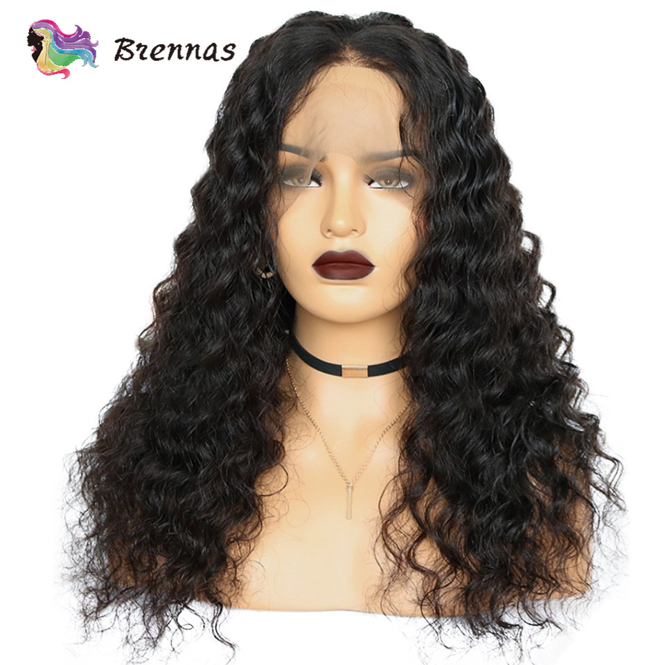 Peruvian Loose Wave Wig Bleached Knots 13x4 Lace Front Wigs Baby Hair Brazilian Human Natural Color For Women Non Remy Hair