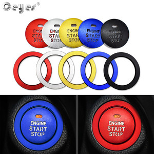 Ceyes Car Start Stop Engine Ignition Push Button Ring Styling Accessories Cover For Subaru Forester Outback For Lexus For Toyota(China)