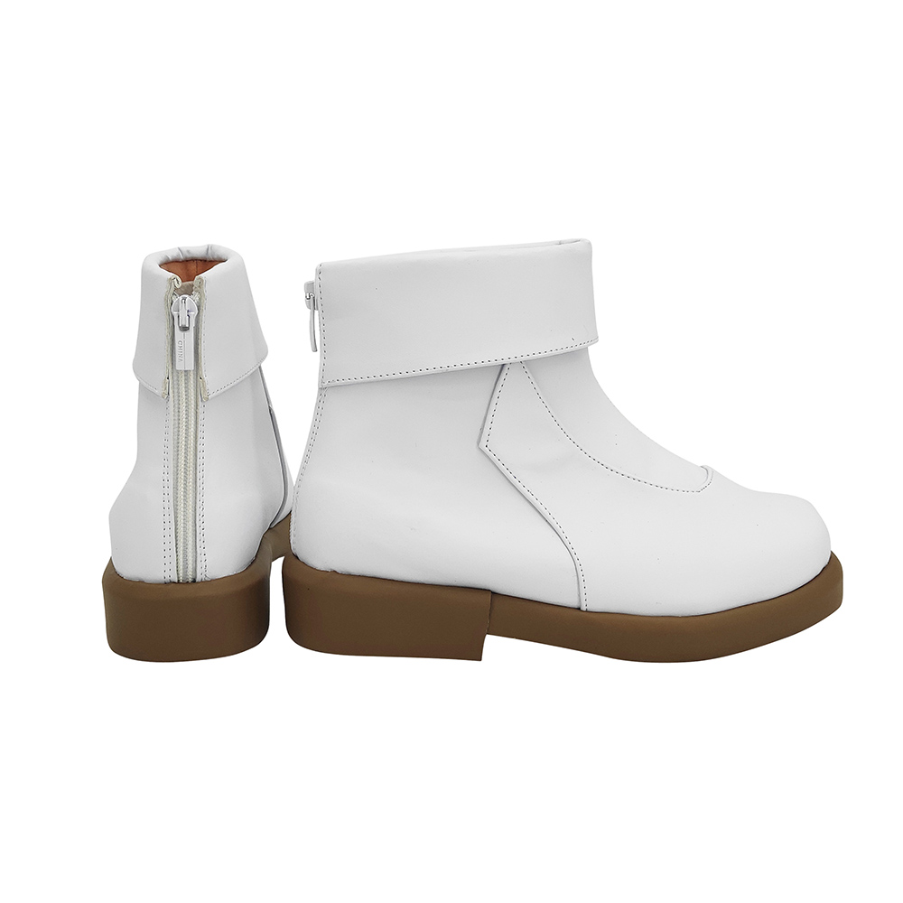 Anime Jujutsu Kaisen Toge Inumaki Cosplay Boots White Leather Shoes Custom Made Any Size (3)