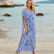 Пляжное платье хлопковое парео саронг бикини халат de plage