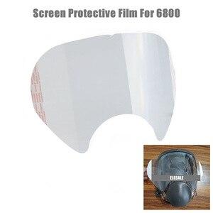 Alta qualidade película protetora para 3m 6800 respirador de gás rosto cheio máscara janela protetor tela pintura pulverização máscara