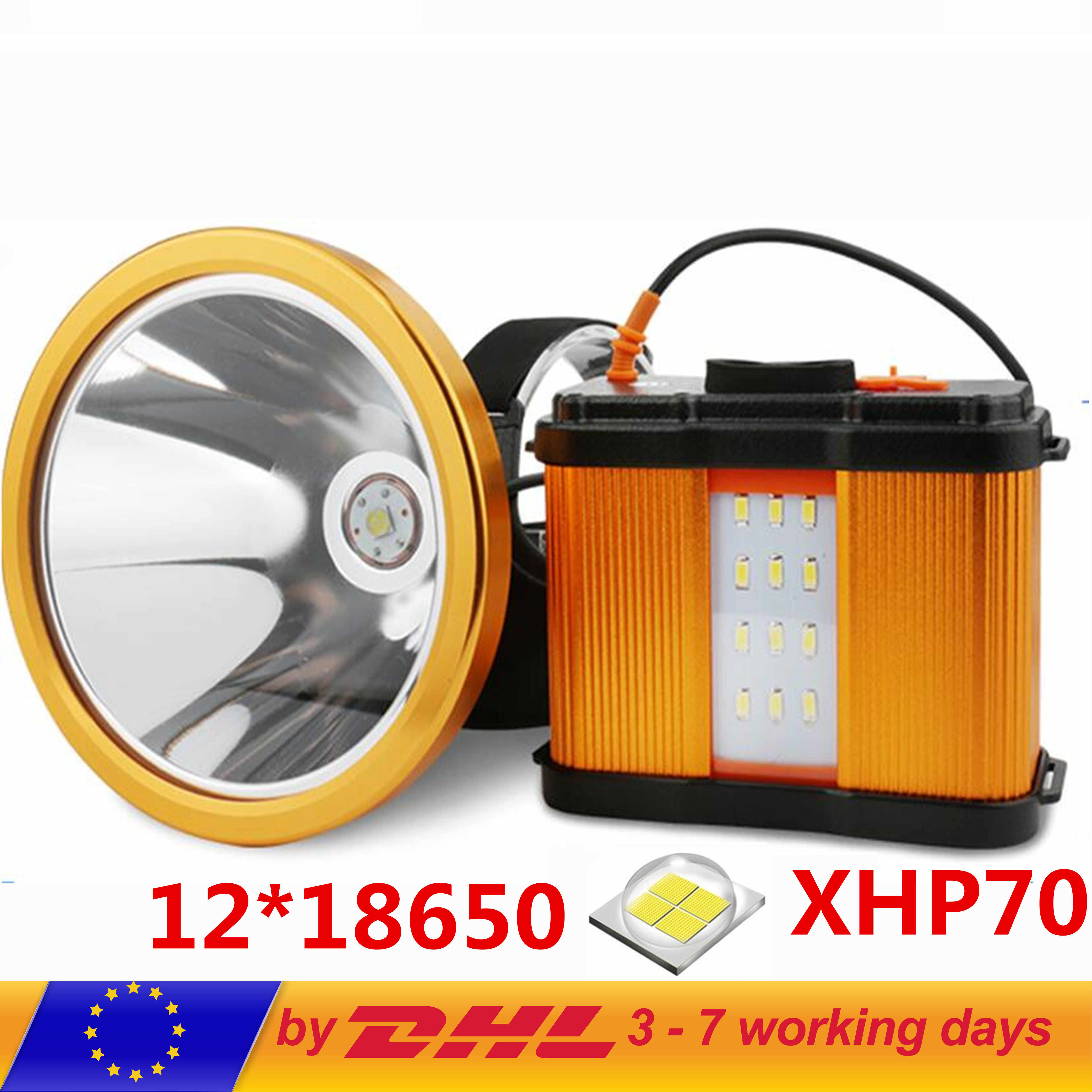 High Power Cree Bulb LED Head Torch Headlight Mains Car Rechargeable Fishing