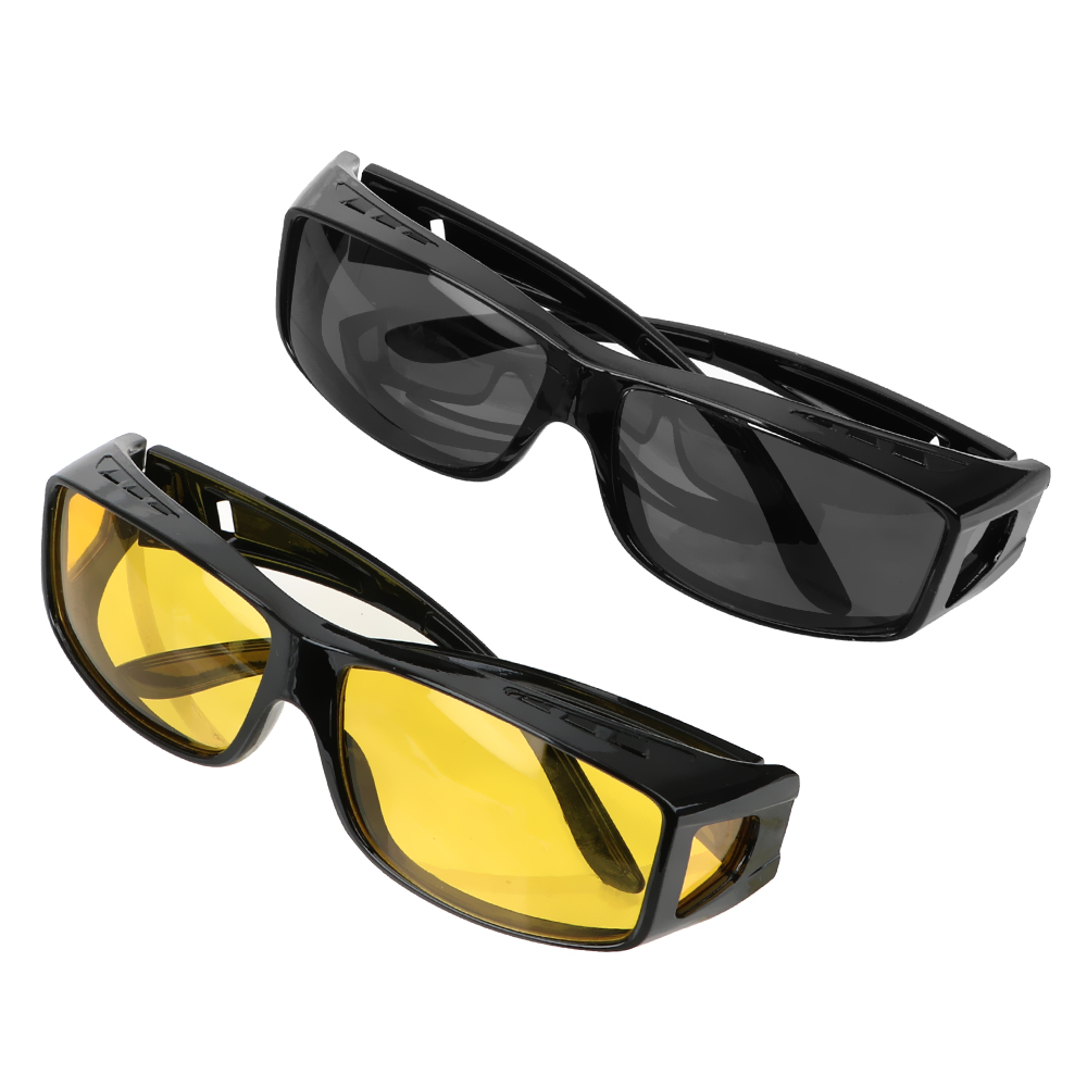 LEEPEE HD Night Vision Goggles Sunglasses Eyewear Driver Goggles Car Driving Glasses Fits Over Your Prescription Glasses
