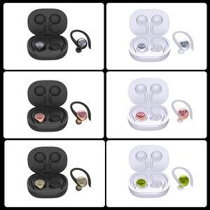 Image 5 - Caletop TWS sport en cours dexécution sans fil écouteurs oreille crochet Bluetooth bruit suppression casque IPX4 étanche casque avec micro