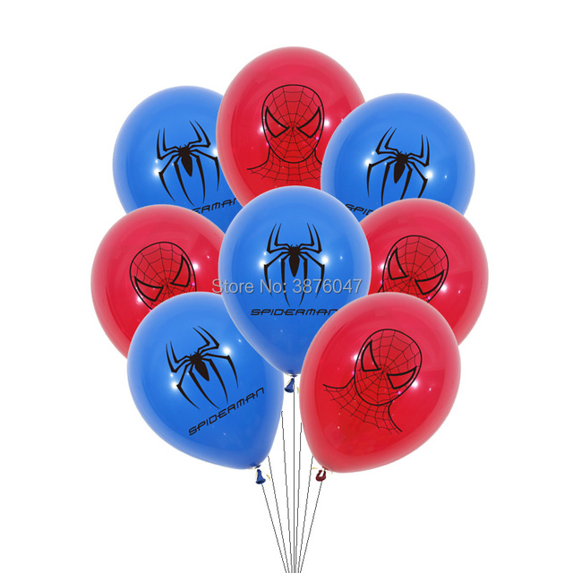 3d spiderman balloons kids boy super hero birthday spiderman party decorations happy birthday spider mask printed balloons 5