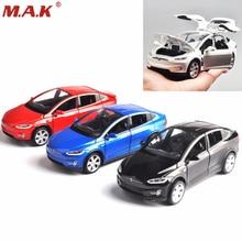 Автомобили 1/32 масштаб сплава литья под давлением модель автомобиля свет и звук Тесла MODELX90 мини-автомобили игрушки коллекция детские игрушки подарок