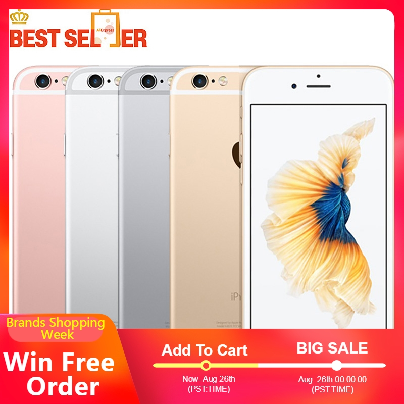 Apple A9 Original iPhone 6s 64GB/128GB-ROM 16GB 2gb LTE/GSM/CDMA2000/CDMA Dual Core Fingerprint Recognition