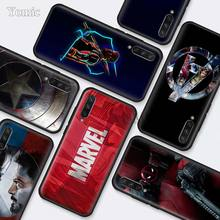 Marvel Superheroes The Avengers Black Silicone Cases for Xiaomi Mi A3 Lite CC9E 9T 5X 6X 8 A2 A1 Redmi K20 Note 7 Cover