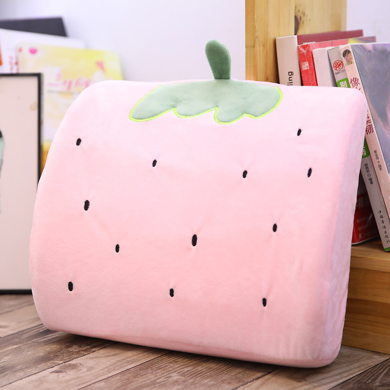 1 Pack Lumbar Support Back Pillow Cartoon Memory Foam Cute Waist Support Car Seat Lumbar Accessories For Christmas Presen Pillow