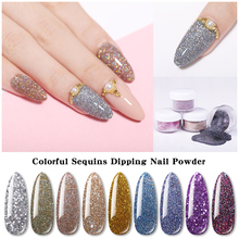 LILYCUTE 5g Glitter Dipping Nail Powder Gradient Clear Coat Dip Natural Dry For DIY Art Decoration