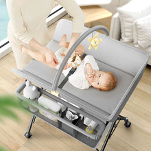 Baby Crib Bed Newborn Diapers Changing Table Baby Bed Diaper Changing Table Multifunction Newborn Baby Care Table Foldable Crib