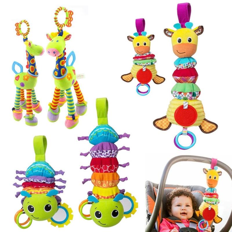 JJOVCE Cute Infant Baby Crib Bed Hanging Toys Stroller Rattles Educational Plush Giraffe Toys For Children Newborn 0-12 Months