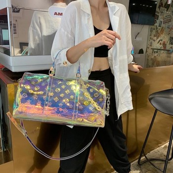 Laser Sympony Hologram Holographic Travel Handbags Cool Chic Colorful Fashion Shoulder Bags Valentine's Day Gift