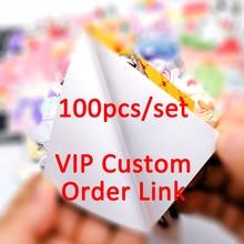 Autocollants à motif Graffiti mixte en PVC, étiquette étanche, lien de commande personnalisé VIP, paquet de 100