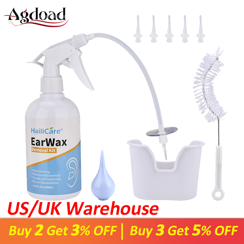 AGDOAD Ear Wax Cleaning Tools Family Use Earwax Removal Kit Ear Wax Irrigation Ear Cleaner for Adults Kids Health Care