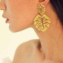 Earings Sale Oorbellen Hot Style Personality Hollow Metal Stud Earrings Leaves Women 2019 Long Statement Drop For Wholesale