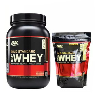 Us genuine warranty ON Optemon Whey Protein Powder Bodybuilding Weight Gainer Powder 1 pounds /2 pounds strengthen the muscles canada brand name standard whey protein powder supplement nutrition fitness strengthening muscle powder whey1 5 pounds para ru