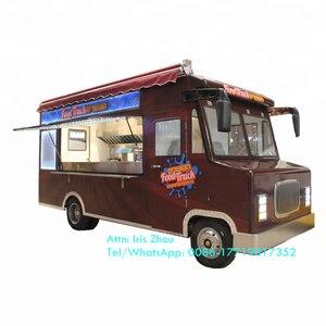 Caminhão do carrinho da van do alimento do parque  lanche móvel que vende o caminhão bonde do alimento pode personalizar o logotipo