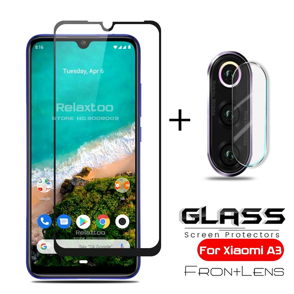 2-in-1 camera protective glass for xiomi xaomi xiaomi mi a3 mia3 mia 3 3a tempered glasses xiaomia3 xiao mi a3 lens film cover(China)