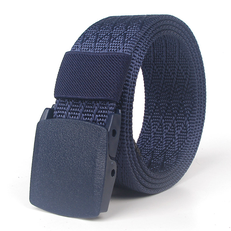 Male / Female Thicken The Tactical Belt Fashion Automatic Buckle Nylon Belts Canvas Belt Boys Students Casual Pants Waistband