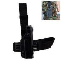 Tactical Glock 17 22 Pistol Holster Military Glock Gun Accessories Double Protective Gun Holster Quick Drop Leg Holster Gun Case