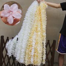 10PCS 100CM Artificial Hydrangea Orchid Wisteria Flower For DIY Simulation Wedding Arch Square Rattan Wall Hanging Basket