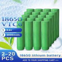 100% original sony vtc6 18650 baterias recarregáveis 3.6v 3000mah descarga alta 30a do dreno da bateria de lítio para ferramentas elétricas