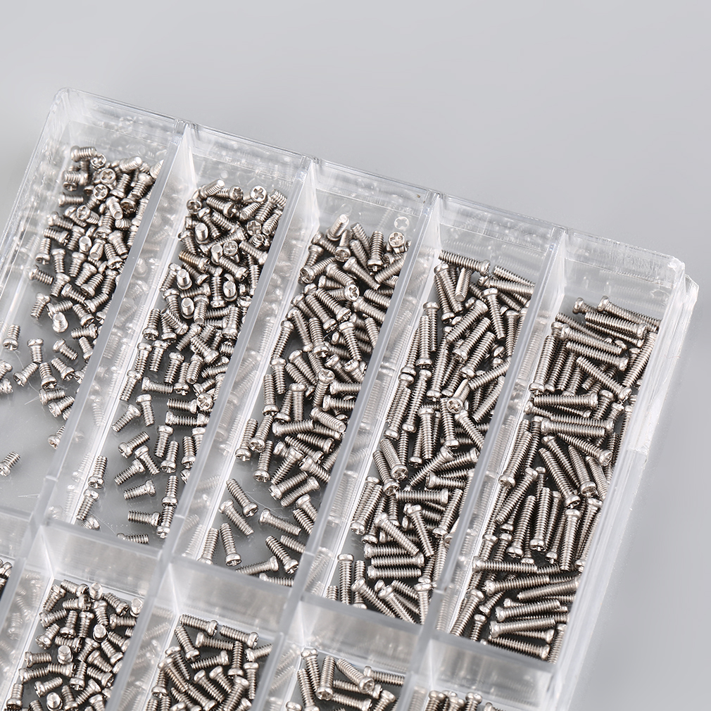 1000Pcs/set Tiny Assortment For Clock Watch Eye Glasses Screws Repair Kit Tool watch for parts Repair Kit Tools Kit